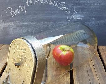 Vintage Panay Horizontal Show Jar, Store Candy Display, Slanted Counter Jar