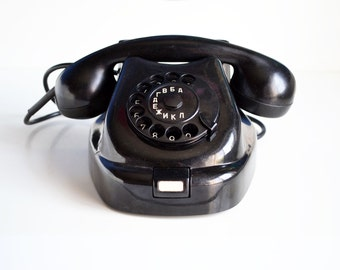 Vintage Rotary Telephone, Tesla Rotary Phone, 60s Vintage, Working Rotary Telephone, Retro gift for him, Bakelite Phone, Rare Rotary Phone