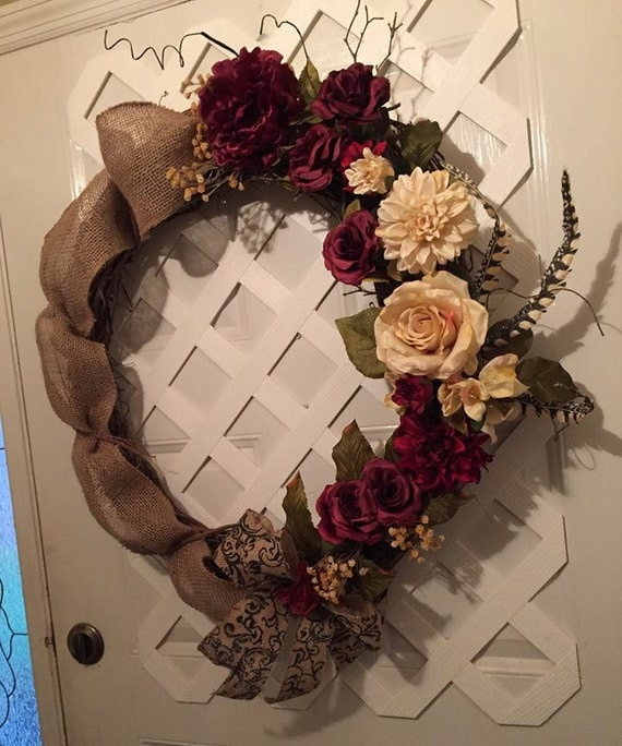 Farmhouse Door Wreath - Rustic Door Wreath - Everyday Grapevine Wreath - Housewarming Gift Idea - Front Door Wreath - Mantal Wreath - Rustic