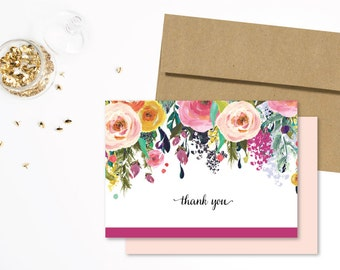 Thank You Card | Wedding Card, Wedding Thank You, Thank You Note, Bridal Shower Card, Baby Shower Thank You, Generic Thank You, All Occasion