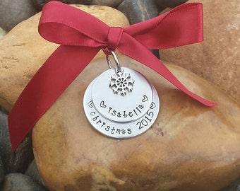 Children's Christmas Ornament | Child's Ornament | Kid's Christmas Ornament | Child's First Christmas Ornament | Family Keepsake Ornament
