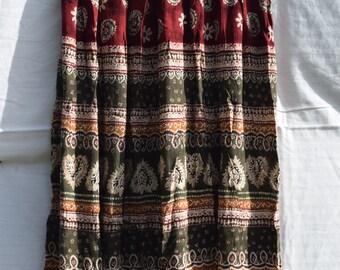 Ethnic tribal maxi skirt