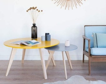 Table de chevet scandinave et vintage table de par - Table de nuit scandinave ...