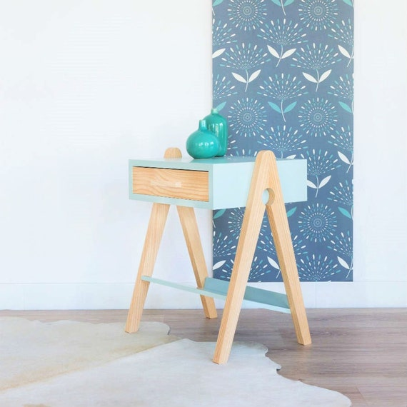 Soldes table de chevet scandinave et vintage table de for Table de nuit scandinave