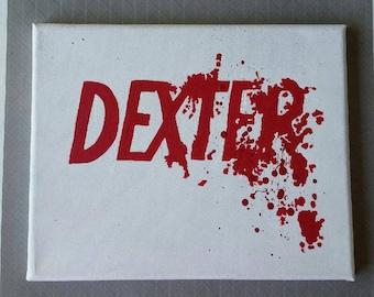 Hand painted 8x10 Dexter logo