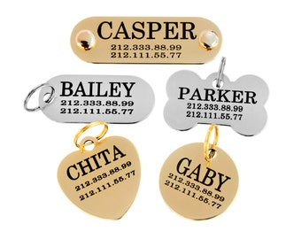 Custom Dog Tag Personalized Engraving Nameplate Brass