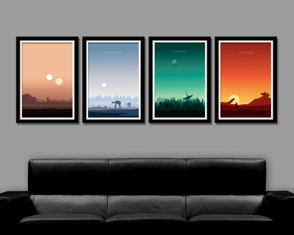 Force Inspired Star Wars Inspirited Minimalist Poster Set