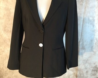"A Jacket In Black By "" Giorgio  Armani "". Size 44"