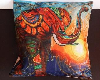 African Elephant Pillowcase Afrocentric Pillowcase Tribal Elephant Pillow Cover Decorative Sofa Pillow Cushion Tribal home decor Safari