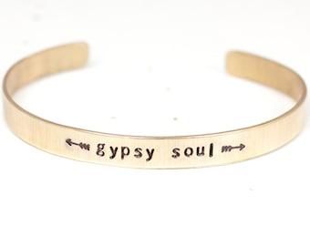 Gypsy Jewelry, Gypsy Soul, Boho Jewelry, Bohemian, Copper Bangle, Brass Bangle, Gypsy, Metal Bracelet