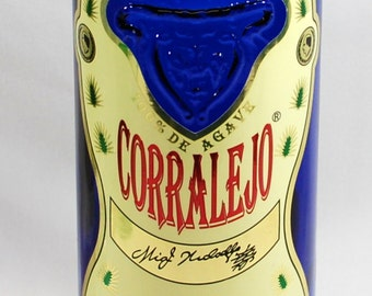 Handcrafted 1.75L Vase - Created from Recycled Corralejo Reposado Tequila Bottle