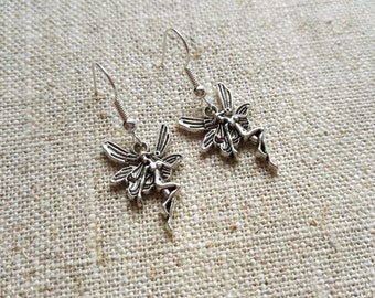 Tibetan Silver Fairy Charm Earrings