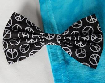 Peace Signs hair bow Handmade Hair Accessory