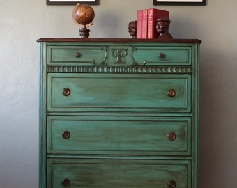 SAMPLE PIECE - Antique Highboy Chest of Drawers