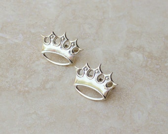 Men's Crown Cuff Links, Silver Cuff Links, Royal Cuff Links, Gifts for Dad, Gift for Husband