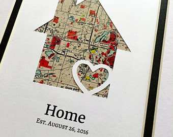 HOME - Personalized Housewarming Gift - First Home Gift- New House Housewarming Gift- Closing Gift Realtor - Gift for New Homeowners