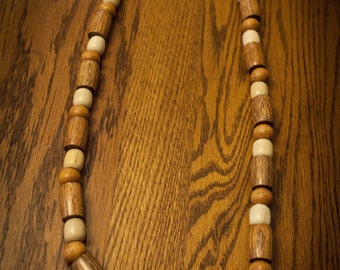 Mixie Hipped Wood Bead Necklace