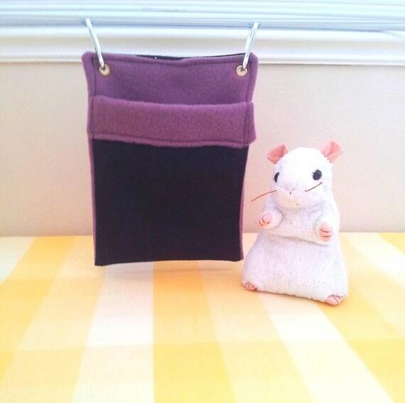 hanging pet sleeping bag play sack mouse pouch black denim. Black Bedroom Furniture Sets. Home Design Ideas