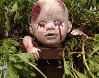 Zombie Baby, Garden Halloween Decor, Halloween Yard Decor
