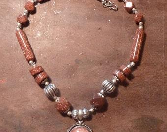 Sun stone necklace