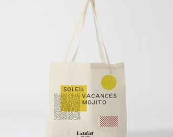 Type X291Y Tote bag Sun holiday mojito, tote bag, bag shove everything, beach bag, sack races, bag, diaper, bag offer