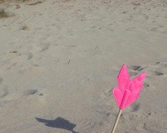 Pink Felt Arrow MERRYWEATHER Pencil Topper, Pink Arrow, Vegan