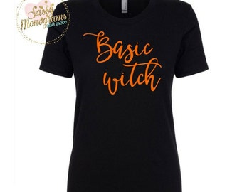 Basic Witch Halloween Shirt OR Racerback Tank Top OR Women Shirt