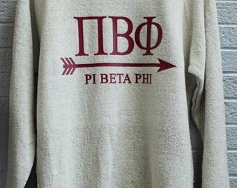 Natural Poodle Fleece Sweatshirt with Press on Design