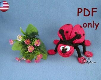 Ladybug, amigurumi crochet pattern