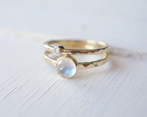 Engagement Moonstone Rings