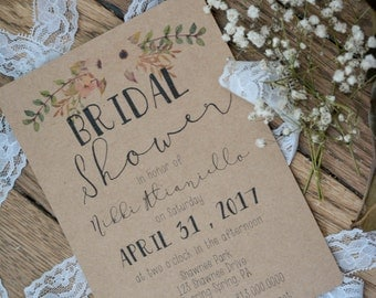 FLORAL|Bridal Shower Invitations #2