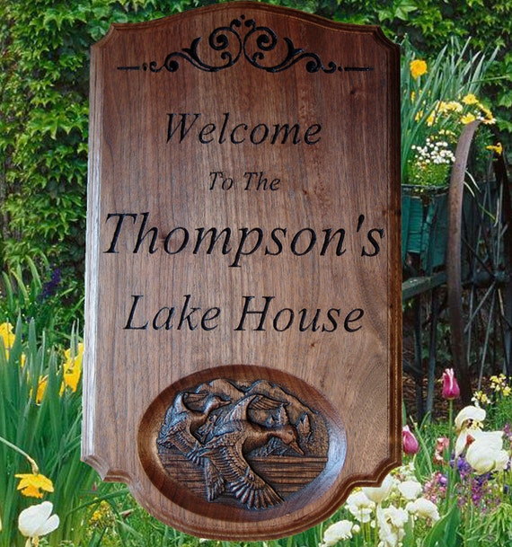 Personalized Beach House Plaques: Personalized Lake House Decor Lake Sign Lake By
