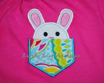DIGITAL ITEM: Peek-a-boo Bunny Pocket Applique Design