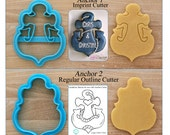 Anchor Cookie Cutter & Fondant Cutter Designed by Whisked Away Cutters - **Guideline Sketch to Print Below**