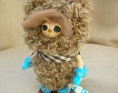 Art bear.  Small bear. Miniature bear. Art doll. Knitted bear. Croched bear. Teddy bear. Tiny bear.