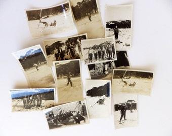 Vintage family photographs lot - dated Kosciusko 1940