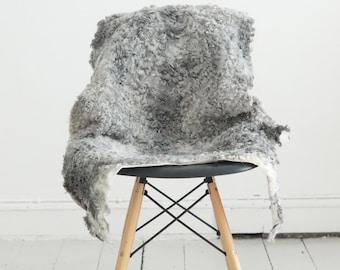 Smooth, Soft, Curly Gotland Natural Sheepskin Rug