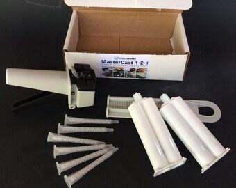 Resin cartridge gun kit, MasterCast 1-2-1 resin mixing gun.