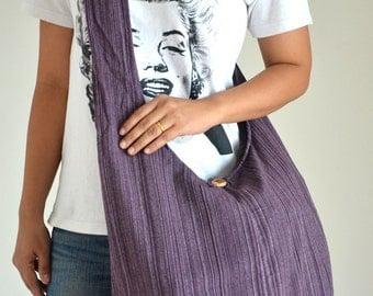 Violet Stripe Messenger Bag Vintage Design Bag Hobo Bag Overnight Bag Retro Bag Messenger Bag Shoulder Purse Crossbody Bag Gift for Her