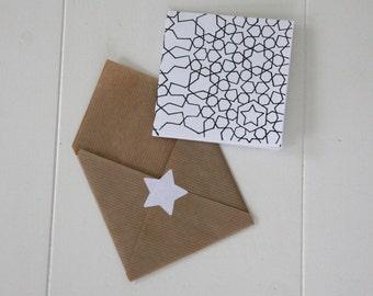 greeting card   star   black