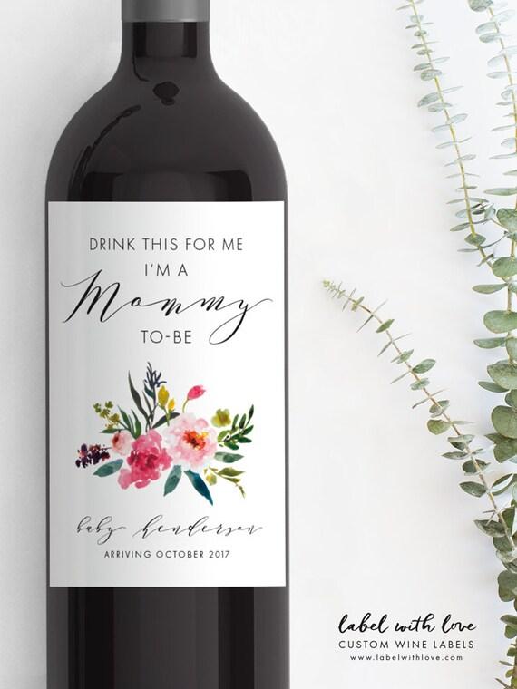 Populaire La grossesse annonce bouteille de vin étiquette étiquette de UT14