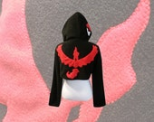 Pokemon GO team Valor Moltres inspired cosplay hoodie (shrug style)