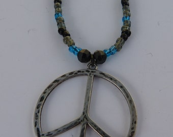 Blue,Black and Gray with Peace Sign