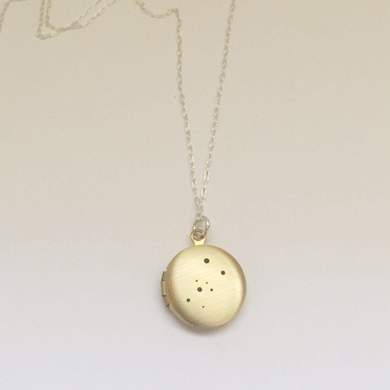 Taurus Constellation Necklace: Taurus Constellation Locket Necklace Small By LucksmithMetals