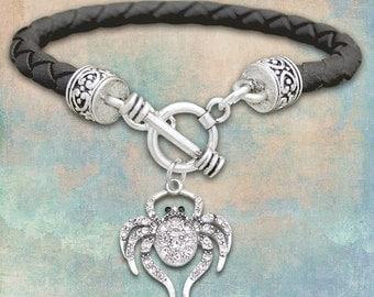 Spider Leather Bracelet - 50358