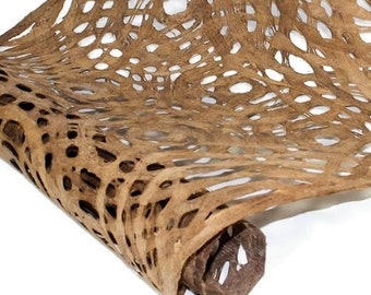 Amate Bark Paper from Mexico - Circular Pattern - Buckskin