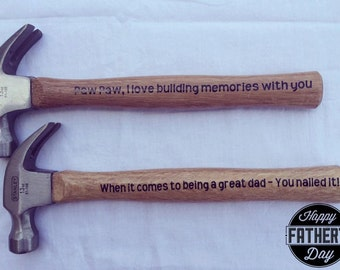 Personalized Gift Hammers for Him
