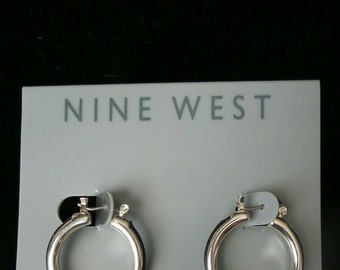 Silver Hoop Earrings by Nine West©