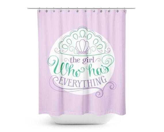 Shower Curtain - Kids Shower Curtain - Princess Ariel Shower Curtain ...