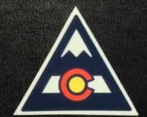 Colorado Flag Mountain A Sticker Vinyl